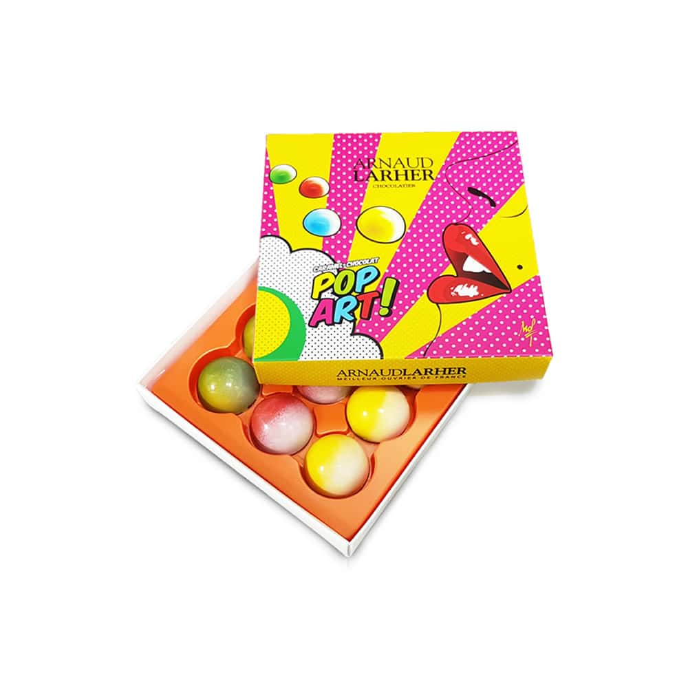 Caramel Chocolat Lait Fruits 70g Coffret Pop