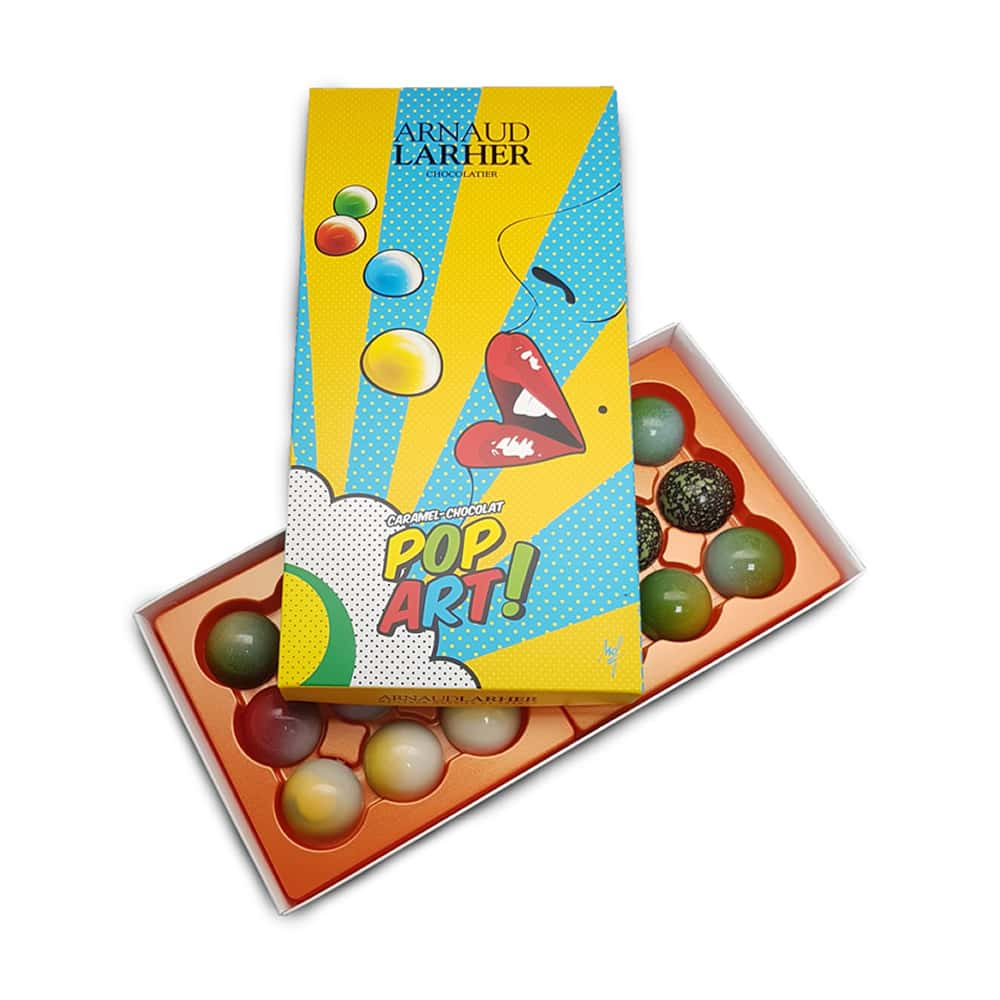 Caramel Chocolat Lait Fruits 135g Coffret pop