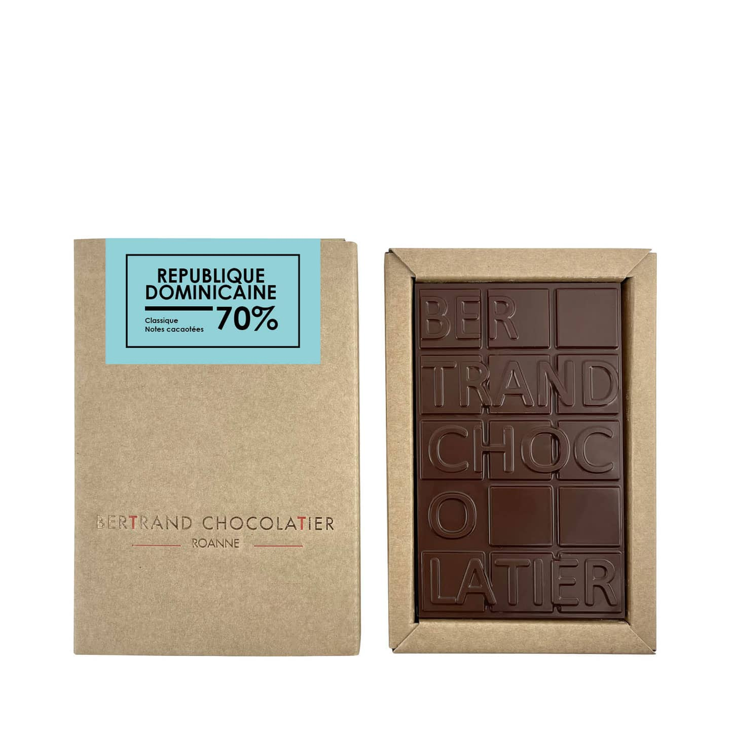 Tablette chocolat Noir 70% origine République Dominicaine 90g