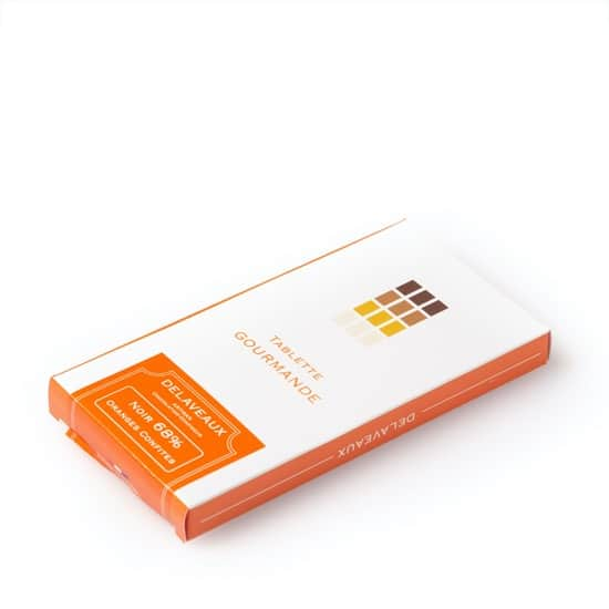 Tablette Noir Oranges Confites 68%