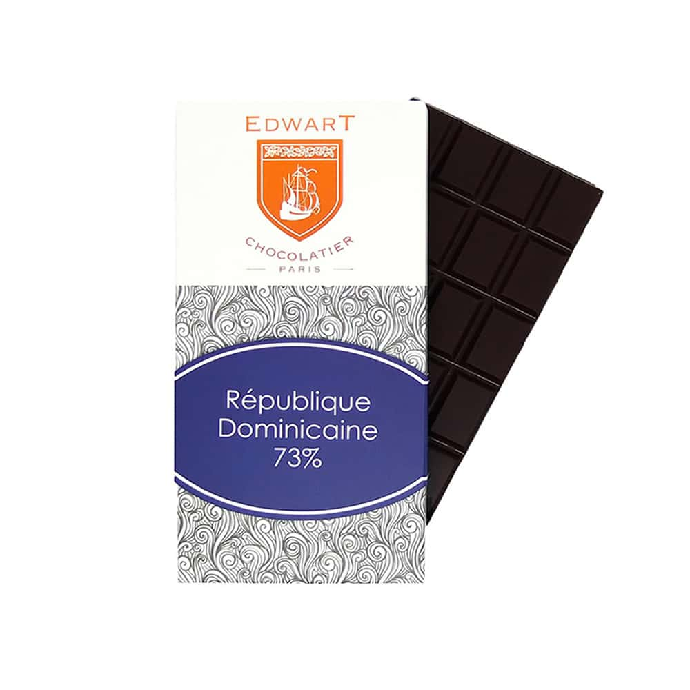 Tablette Chocolat Noir 73% Grand cru origine République Dominicaine 100g