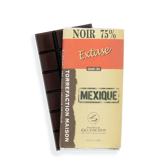 Tablette Noir 75% Grand Cru Mexique