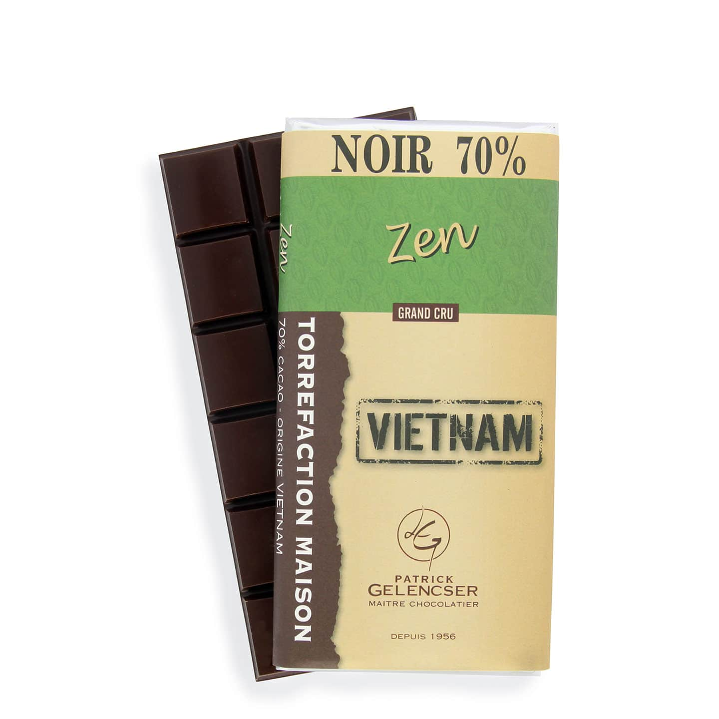 Tablette Chocolat Noir 70% origine Vietnam 100g Zen - Bean to Bar