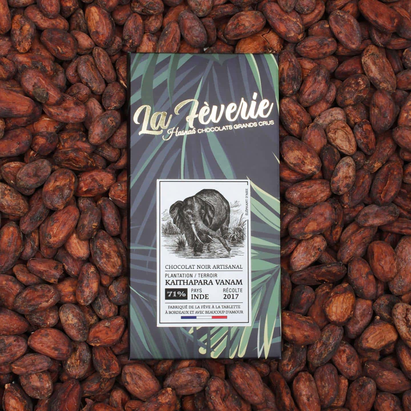 Tablette Chocolat Noir 71% Grand Cru origine Inde 56g Bean to Bar