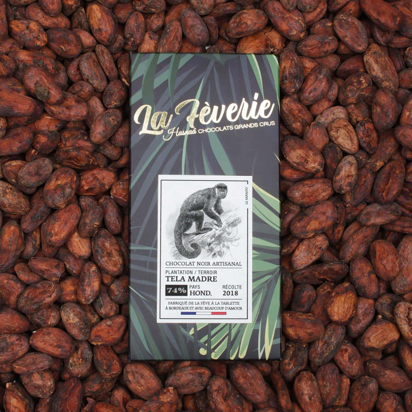 Tablette Chocolat Noir 74% Grand Cru origine Honduras 56g Bean to Bar