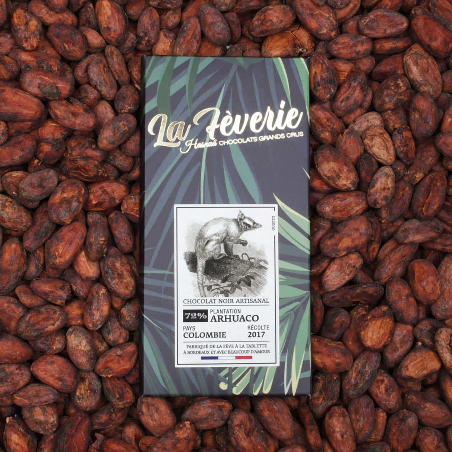 Tablette Chocolat Noir 72% Grand Cru origine Colombie 56g Bean to Bar