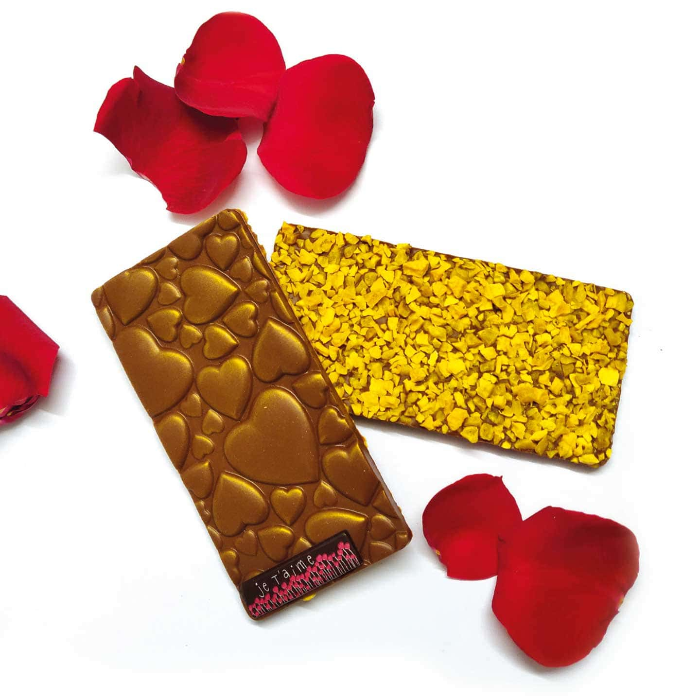 Tablette Chocolat Lait Mangue Passion 38% Saint Valentin 90g Poignée d'Amour