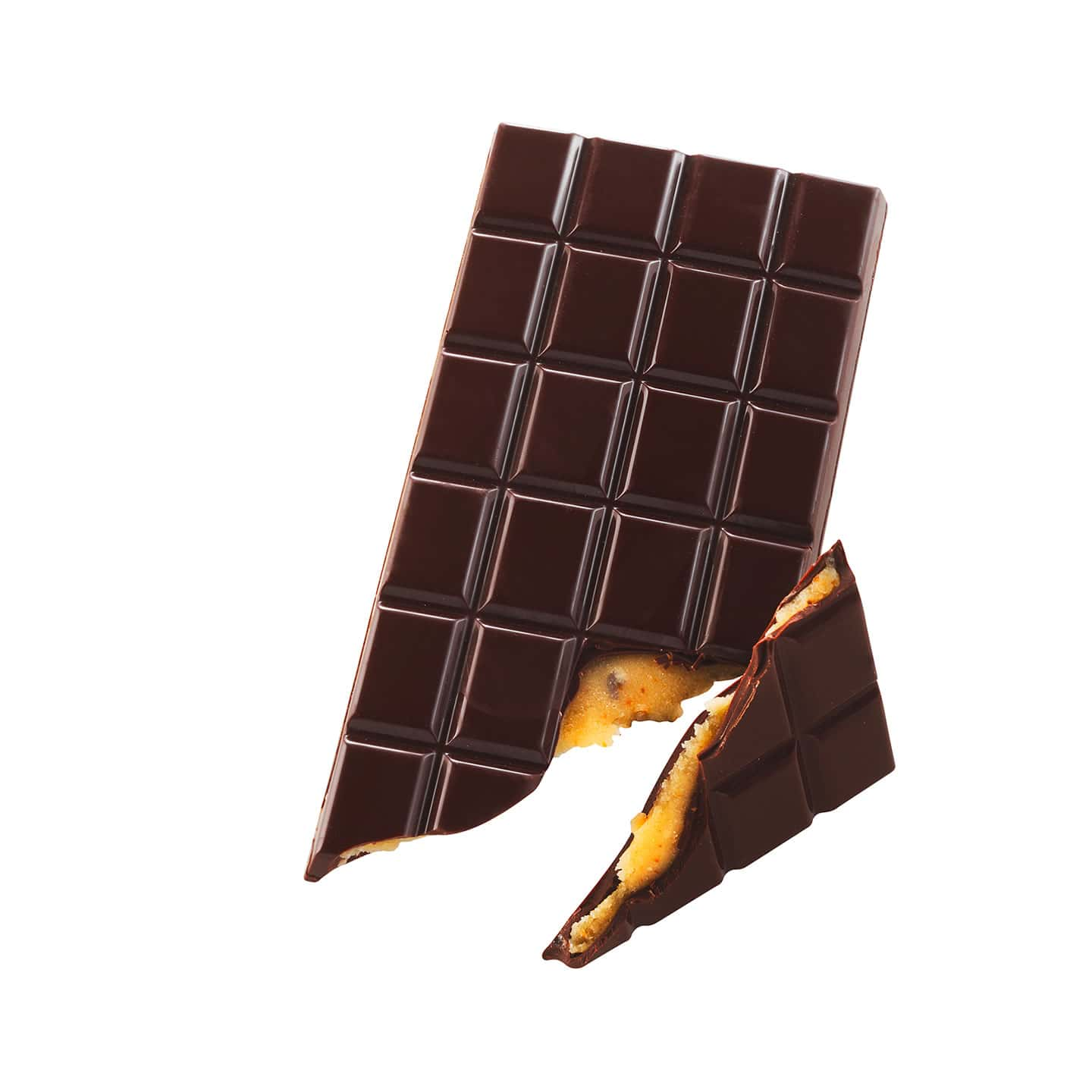 Tablette Chocolat Noir Pâte d'Amande Orange 72% 120g