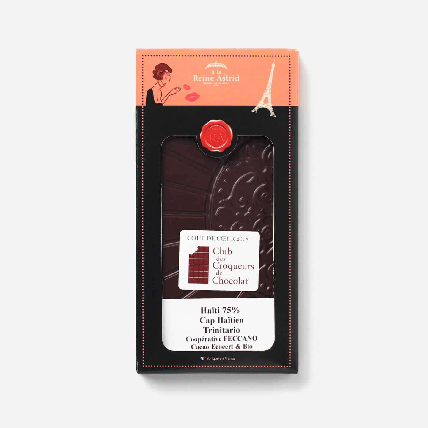 Tablette Chocolat Noir Bio 75% Grand Cru origine Haïti 75g Bean to Bar